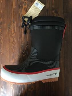 new boys girls sno boots rubber black