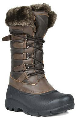 DREAM PAIRS New Women's Full Faux Fur Lined Mid Calf Winter
