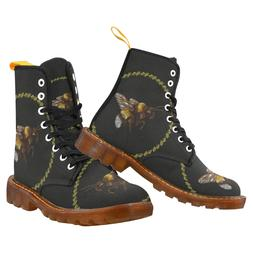New Coming Comfortable Women Boots Bee Printed Lace Up Marti