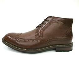 New! Dress Ankle Boots Men's Wingtip Lace Up Leather Lining