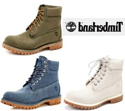 "NEW Men's Timberland Classic 6"" Premium Boots Canvas Work Sh"