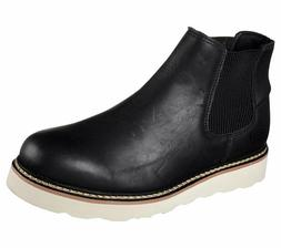 NEW MEN'S SKECHERS PETTUS-KIRKALDY WORK BOOTS BLACK 77137/BO