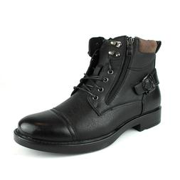 New Mens Dress / Casual Ankle Boots Lace Up Black Cap Toe Zi