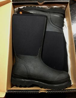 NEW Mens BOGS Rancher Black Insulated Snow Winter Boots Sz 9