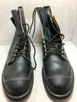 """NEW NO BOX MEN'S IRON AGE STEEL TOE 7"""" LEATHER BOOT WITH KEV"""