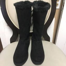 NEW Rampage REBECCA Faux Fur Boots - Women's Size 8M BLACK