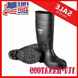 NEW Rubber 31251.12 Steel-Toe Boots,.Black PVC, 15-In., Mens