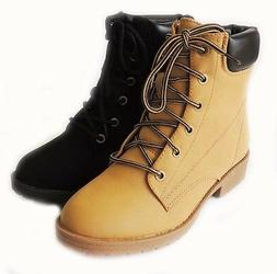 NEW WOMEN FASHION *TOP MODA*  ANKLE BOOTS MILITARY COMBAT ST
