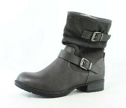 Global Win Womens Gray Fashion Boots Size 11