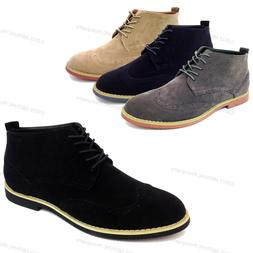 Brand New Men's Ankle Boots Wing Tip Lace Up Fashion Oxfords