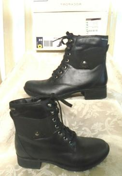 NWB Rockport Copley WATERPROOF Lace-Up Black Leather Boot Sz