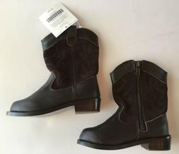 NWT Janie & Jack Fall Frontier Brown Leather Cowboy Boots 6
