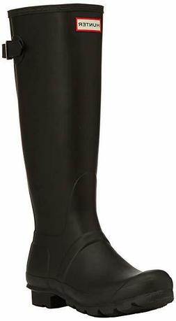 Hunter Original TALL Back ADJUSTABLE Rain BOOTS Black AUTHEN