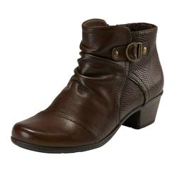 Earth Origins Leather Ankle Boots - Marietta Malcolm