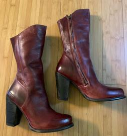 Oxblood - Dark Red Leather BedStu Fall Boots Sz 10