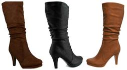 Top Moda Page-43 Womens Fashion Mid Calf Round Toe Slouched