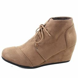 Forever Link Patricia-1 Women's Casual Oxford Ankle Booties