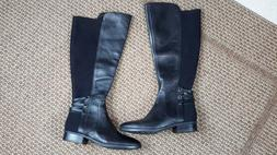 Vince Camuto Pauletta Women's black knee high boots for wide