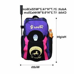 Professional Large Equestrian Horse Riding Backpack Purple P