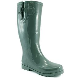 DailyShoes Women's Puddles Rain and Snow Boot Multi Color Mi