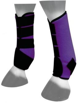 Showman PURPLE Neoprene Horse Sport Boots For Front or Hind