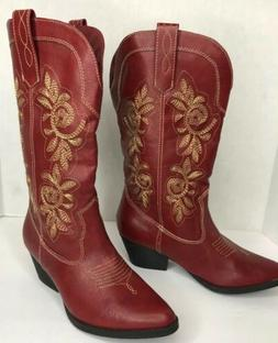 RAMPAGE Red Tumbled Ladies Boots Size 6 1/2 Style Ram Vida W