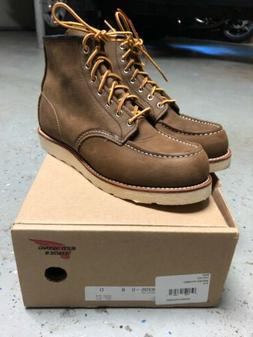 Red Wing Boots 6in Moc Toe 8205 Boomer Brown Mens 8 BRAND NE