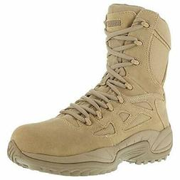 "Reebok Women's Stealth 8"" Lace-Up Side-Zip Work Boot Composi"