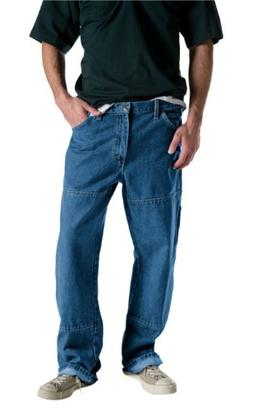 Dickies Men's Relaxed Fit Double Knee Carpenter Jean, Stone