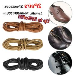 Round Waxed Shoelaces Shoe Laces Cord Leather Dress Shoes Bo