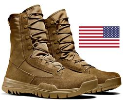 """NIKE SFB FIELD 8"""" COYOTE LEATHER MILITARY COMBAT BOOTS *AR 6"""