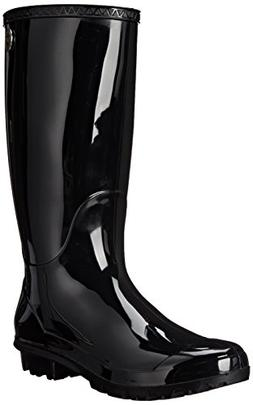 UGG Women's Shaye Rain Boot, Black, 12 B US