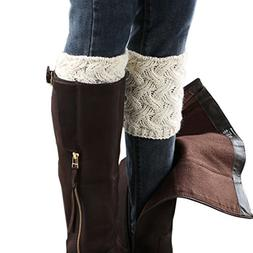 short women crochet boot cuffs winter cable
