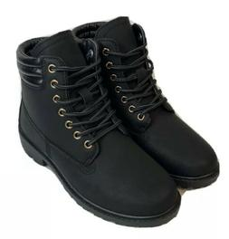 Size 6 Women's Forever Link Black Lace Up Combat Boots