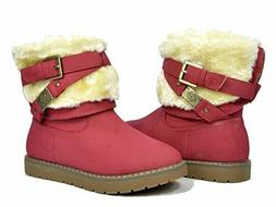 DREAM PAIRS - SIZE 9 KIDS - RED - GIRLS BOOTS - KAILEY-6