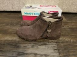 Sketchers memory foam Zappiest Chocolate Brown Suede ankle b