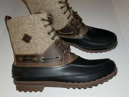 Sperry Top-Sider Decoy Brown/Tan Rubber Wool Lace Up Boots M