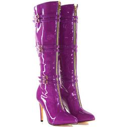 Original Intention Stylish Women Knee High Boots Pointed Toe
