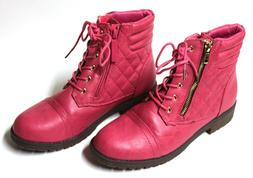 DailyShoes Susan-01 Hot Pink Women's Boots Size 7.5