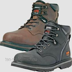 "Timberland PRO Boots Mens Pit Boss 6"" Steel Toe Leather Boot"