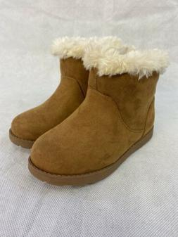 Toddler Girls Chestnut Brown Boots Size 10 Cat And Jack Orio