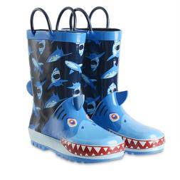 Kushyshoo Toddler Kids Rain Boots with Easy-on Handles for B