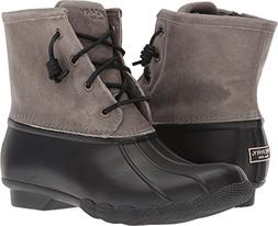 Sperry Top-Sider Women's Saltwater Rain Boot, Black/Grey, 6