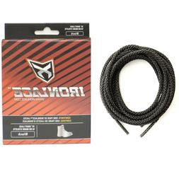 IRONLACE Unbreakable Extra Heavy Duty Black Work Boot Laces.