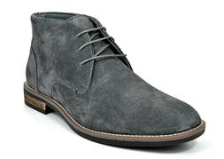 Bruno Marc Men's URBAN-01 Grey Classic Suede Leather Lace Up