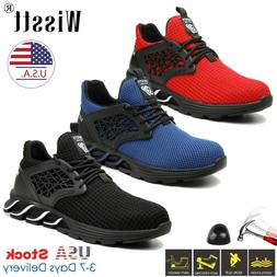 US Indestructible Safety Work Shoes Steel Toe Boots Lightwei