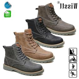 US Men's Leather Waterproof Work Martin Boots Ankle Casual N