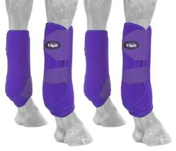 Tough 1 Extreme Vented Sport Boots Set, Purple, Small
