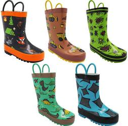 Norty Waterproof Rubber Rain Boots for Kids - Boys & Girls -