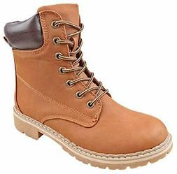 Forever LINK WHITNEY-25 Women's Ankle High Combat Hiking Boo